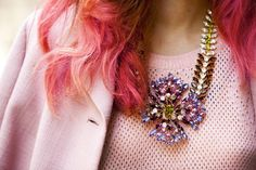 Eleonora Carisi. Pretty, pretty pastels and bling.  Details in street style.