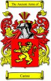 Carino Family Crest / Carino Coat of Arms  The Italian surname of CARINI was an Italian and Spanish nickname, derived from the old Italian w...