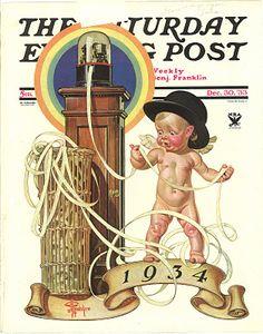 Ticker tape in 1933 - a new year... Leyendecker, Saturday Eve Post