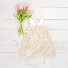 Tea Rose Dress in Darling Flower Peach