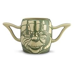 Disney Yoda Mug - Star Wars | Disney StoreYoda Mug - Star Wars - Wise you be to hold Yoda's ears both when drink you from this mug. Sculpted in the form of the Jedi master's head, the large cup has dimensional facial features including his distinctive ears as handles.