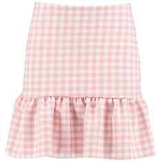 Boohoo Luna Gingham Drop Peplum Mini Skirt featuring polyvore, women's fashion, clothing, skirts, mini skirts, peplum mini skirt, short mini skirts, pleated midi skirts, pleated mini skirt and short maxi skirt