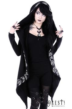 Restyle All Seeing Moon Hoodie - £59.99 : Angel Clothing   Gothic and Steampunk Clothing
