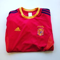 Spain home shirt 2002 World Cup #spain #espana #spainshirt #spanishfootball #adidas #football #footballshirt #retro #retroshirt #retrofootball #retrofootballshirt #vintage #vintagefootball #vintagefootballshirt #soccer #soccerjersey #worldcup #worldcup2002 #2002 #internationalfootball