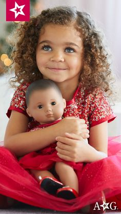 Your girl and her American Girl doll will shine in the spotlight at holiday parties in fancy matching dresses! Beautiful Little Girls, Beautiful Babies, Beautiful People, Girl Dolls, Barbie Dolls, Mixed Babies, Cute Girl Poses, Bitty Baby, Reborn Dolls