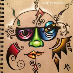 032315 Sketchbook page. Marker and Prismacolor pencil on recycled paper.  ©2015 Joy Michelle  #cRaZyArTiSt #JoyMichelleArts