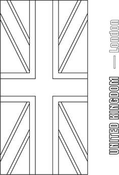 flag of england coloring page - union jack british flag on pinterest union jack uk flag