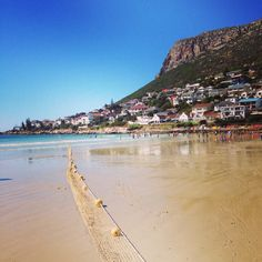 Beautiful Fish Hoek beach with a shark net for safe swimming Cool Places To Visit, Places To Travel, Places To Go, Holiday Destinations, Travel Destinations, Native Country, Cape Town South Africa, Living In Europe, Beautiful Fish
