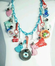 80's plastic charm necklaces. Loved trading charms at school.