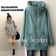 New Arrival!  Plus Size Clothing Winter  Fashion way-2  Zipper Sweatshirt Autumn Winter Short Jacket Korean Coat Free Shipping $29.99