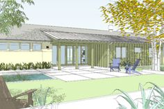 Ranch Style House Plan - 4 Beds 3.50 Baths 2618 Sq/Ft Plan #445-2 Exterior - Front Elevation - Houseplans.com