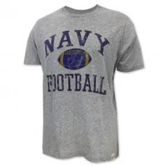 The Navy Football Super T-Shirt in grey is one of many great Navy Ts available. Shop the entire collection and enjoy fast shipping and easy returns/exchanges. Navy Football, Football Gear, Vintage Football, Go Navy Beat Army, Navy Midshipmen, Mens Tops, T Shirt, Collection, Supreme T Shirt