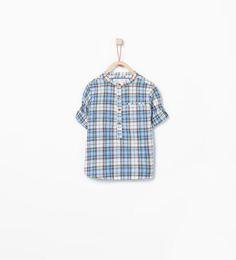 ZARA - CRIANÇAS - Camisa estampado quadrados