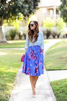 RAIDING MY SISTER'S CLOSET: FLORAL TWO FOR ONE
