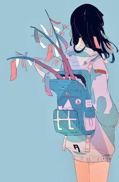 e-shuushuu kawaii and moe anime image board Anime Art Girl, Manga Art, Manga Anime, Pretty Art, Cute Art, Aesthetic Art, Aesthetic Anime, Illustrations, Illustration Art