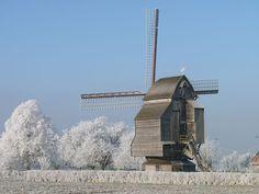 Windwill of Riele, Nord-Pas-de-Calais, France, built in 1756