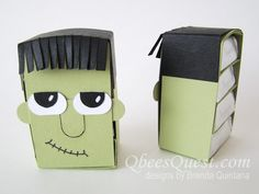Hershey's Frankenstein by Qbee - Cards and Paper Crafts at Splitcoaststampers Hershey Nugget, Hershey Candy, Candy Bar Covers, Paper Art, Paper Crafts, Halloween Cards, Halloween Stuff, Treat Holder, Candy Bar Wrappers