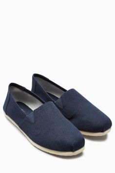 Buy Navy Canvas A-Line Slip-On from the Next UK online shop