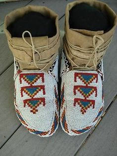 Plains CREE Moccasins Circa 1890 All The Bells and Whistles Great | eBay