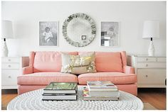 one fantastic reason to live as a single lady for a while. you can have a PINK couch.