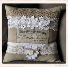 Lacy scatter cushion