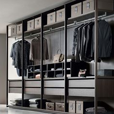 88 Beautiful Open Wardrobe Design Ideas To Simple Organizing. Wardrobe Design Bedroom, Wardrobe Cabinets, Walk In Wardrobe, Bedroom Wardrobe, Wardrobe Closet, Modular Wardrobes, Wardrobe Systems, Dressing Room Design, Modern Closet