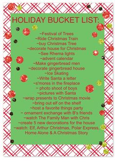 Aw.....Christmas bucket lists are waaaaaaaay more fun with someone to share them with!  <3