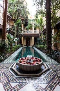 Riads are traditional Moroccan homes with an interior garden. They are absolutely beautiful.