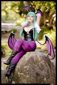 Darkstalkers morrigan aensland a parody cosplay