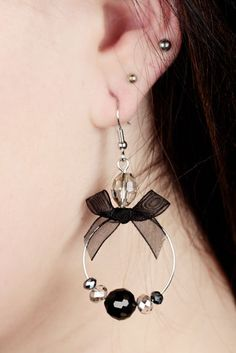 Koristerengas Rusetilla -Korvakorut 6€ Drop Earrings, Jewellery, Fashion, Moda, Jewels, Fashion Styles, Schmuck, Drop Earring, Fashion Illustrations