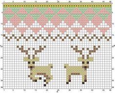 baby deer & geometric design knitting chart