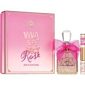 Celebrate the season with Viva la Juicy Rose, a light-hearted toast to the forever vibrant Viva girl. Dressed in sparkling pink, she experiences the world through Rose colored glasses. This effervescent fragrance pops with fizzy citrus perfection. It sparkles in a dew of Jasmine and Rose honey-like blossoms for a dreamy scent that is kissed by the glow of sensual Amber. Cheers!
