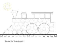 plasticinetafel trein