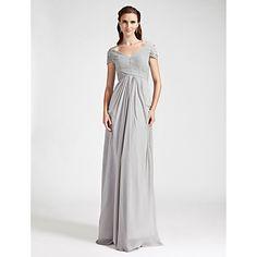 Is this too much?   Bridesmaid Dress Floor Length Chiffon Sheath Column Off the Shoulder Dress – USD $ 79.99
