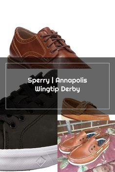 Sperry Annapolis Wingtip Derby Sperrys Men, Front Row, Derby, Louis Vuitton, Sneakers, Shoes, Fashion, Tennis, Moda
