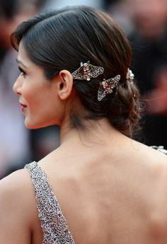Freida Pinto's gorgeous hair at Cannes
