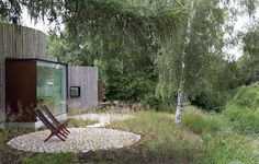 Stay in This #Danish# Vacation Home Made Up of 9 Log-Clad Cylinders - Dwell