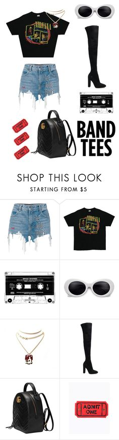 """""""Rocker Chic."""" by therealjanedeaux ❤ liked on Polyvore featuring Alexander Wang, Balenciaga, Gianvito Rossi and Gucci"""