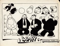 "classicanimationart: "" Model sheet of Wimpy. Vintage Cartoons, 1930s Cartoons, Vintage Comics, Classic Cartoon Characters, Classic Cartoons, Cartoon Styles, Character Model Sheet, Character Drawing, Animation Character"