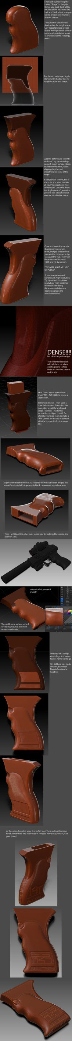 Zbrush Pistol grip Tutorial by ~s620ex1 on deviantART