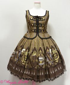 Quartet Chocolate Napoleon JSK  not gothic lolita but fell in love with this when i saw it in person <3<3<3