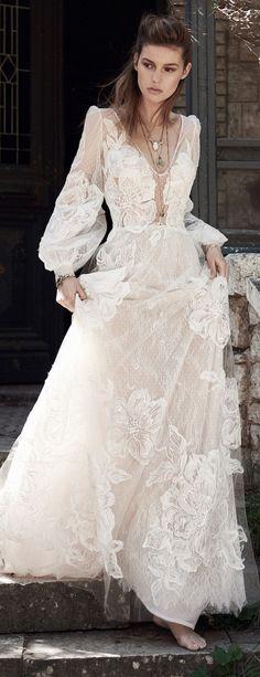Bohemian Wedding Dress by Costarellos Spring 2018 Bridal Collection