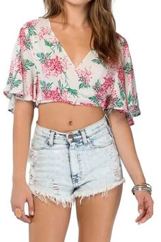 high waisted and crop top
