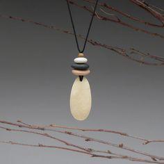 Beach Stone Necklace  a personal talisman for by SueDavisJewelry, $48.00