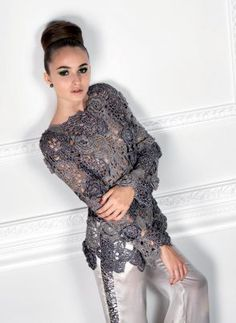 Truly lovely crocheted tunic.  Pattern is from Anny Blatt - seems to be available only in Europe.  Alas