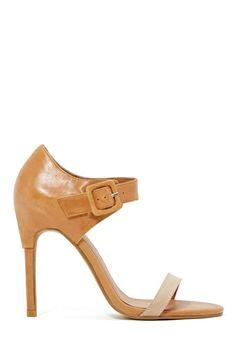 Jeffrey Campbell Rowena Heel - Nude   Shop Shoes at Nasty Gal