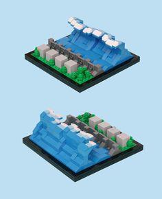 Fukushima tidal wave LEGO mini-vignette by 'Pascal'