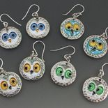 Wonderfully whimsical earrings by Joy Funnell.