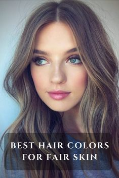 Seven hair color ideas for fair skin – Light and Dark Blondes, Browns, Striking Reds, Rose Gold, Black and Pastel shades, together with 35 hair color examples. #fairskin #haircolor #hairfashion
