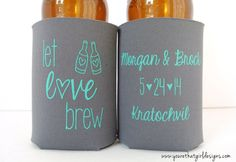 Items similar to Destination Wedding Favor Can Coolers - koozies - wedding koozies - koozie favors - personalize favors SET OF 24, Hawaii Wedding on Etsy